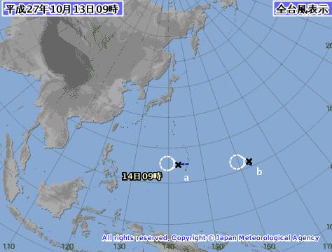 台風24気象庁